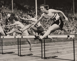Maureen Gardner wins heat two of Women's 800m Hurdles, Olympic Games, London, 1948. | by National Science and Media Museum