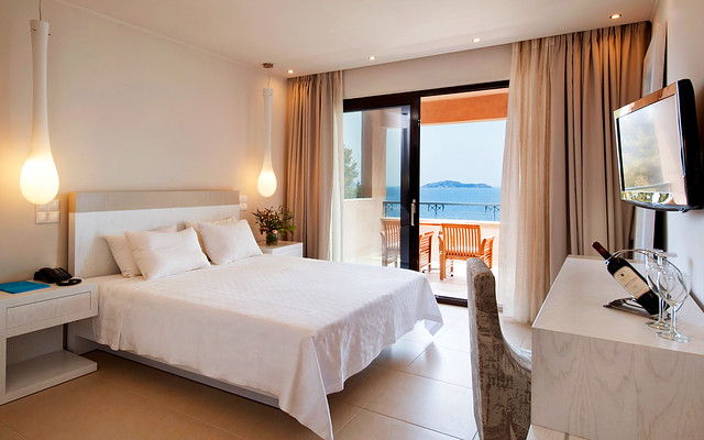 The Deluxe Double Room of the Kassandra Bay Hotel