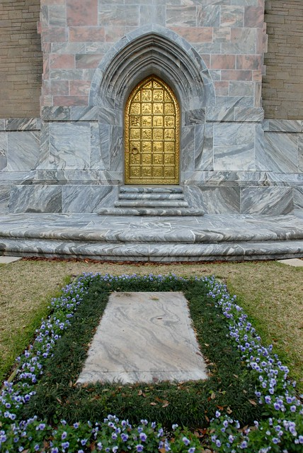 Edward Bok is buried at the base of his beloved singing tower.