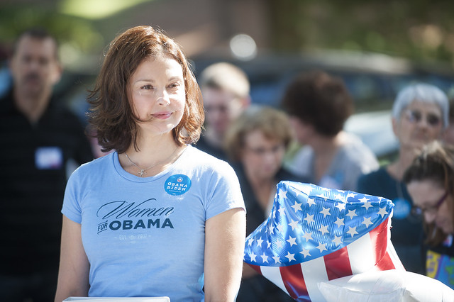 Ashley Judd Campaigns for President Obama in Henrico County, Virginia