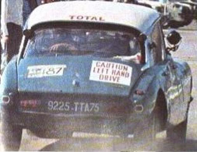 Citroën DS 21 – London / Sydney 1968