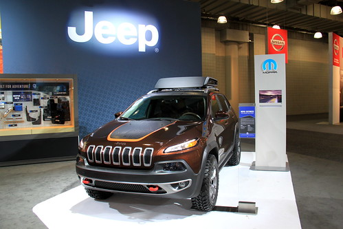 Jeep Cherokee exhibit at the 2014 New York International Auto Show | by Joseph Brent