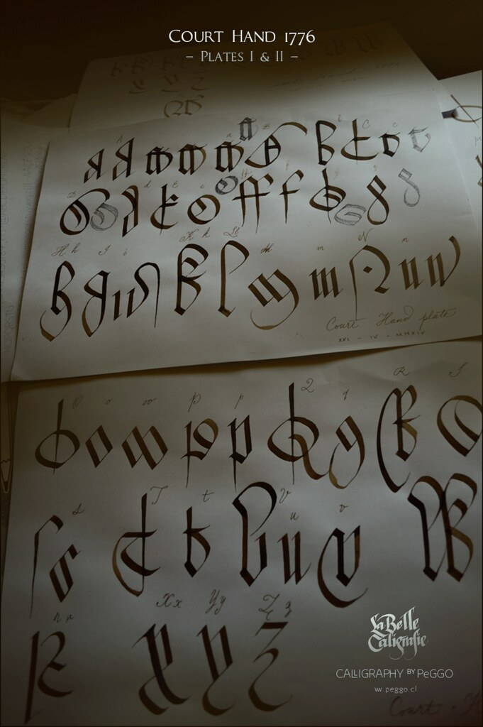 Court Hand (plates I & II) | Ancient Blackletter Old English