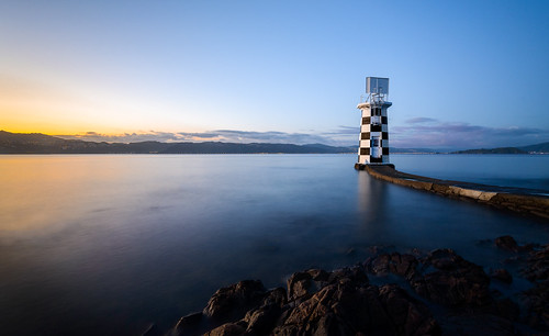 lighthouse tide newzealand sunset ankh pointhalswell water reflection sky longexposure wellington caldwell dusk light