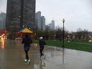running in the rain | by Chicago Running Tours & more