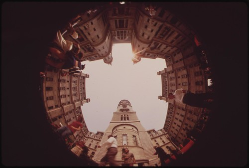 Fisheye View From Center Courtyard Of City Hall, August 1973 | by The U.S. National Archives