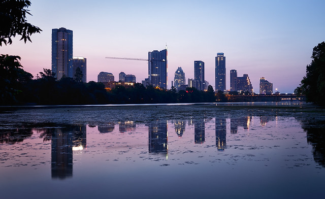 Austin Skyline...Ruined Reflections