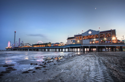 Pleasure Pier in Galveston Texas Blue Hour HDR | by Katie Haugland Bowen