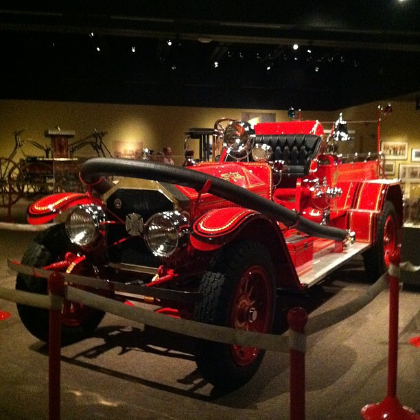 Fire Engine on display at the Missouri History Museum