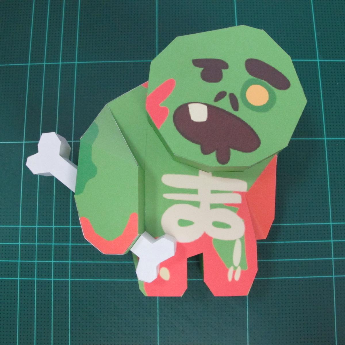 วิธีทำโมเดลกระดาษตุ้กตา คุกกี้ รัน คุกกี้รสซอมบี้ (LINE Cookie Run Zombie Cookie Papercraft Model) 024