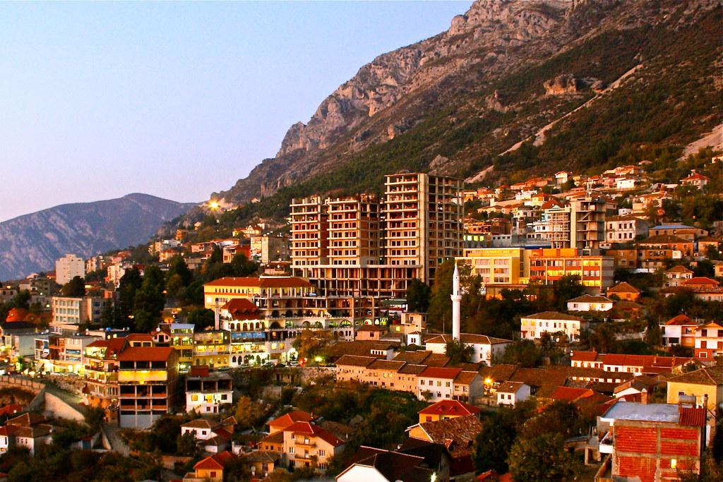 The horrible building in the wonderful Kruja. Albania