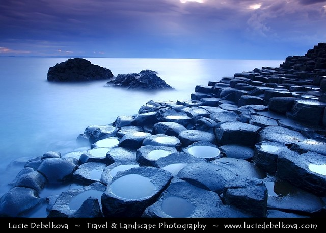 UK – Northern Ireland – Co. Antrim - Giant's Causeway - UNESCO World Heritage Site - Dusk - Twilight - Blue Hour - Night