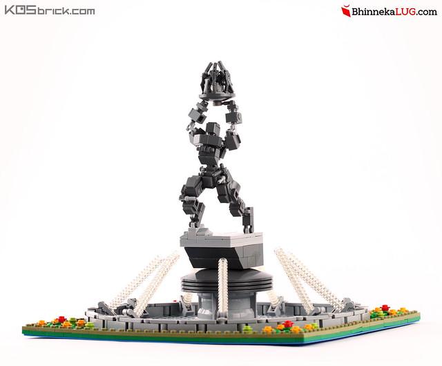 Pemuda Membangun Statue - Jakarta Brick City 2015