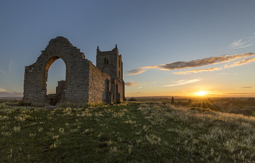sunset summer building church canon ruin somerset levels polariser burrowmump burrowbridge 5diii canon1635f4 august2015