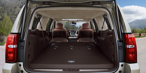 2015 Chevrolet Suburban Interior featuring Power Fold Flat Seats Photo
