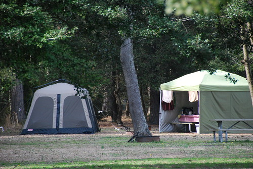 Tent camping at Kiptopeke State Park in the winter   by vastateparksstaff