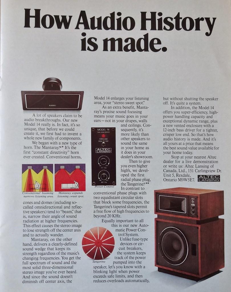 Altec Lansang Speaker Ad - 1980 | Howard | Flickr