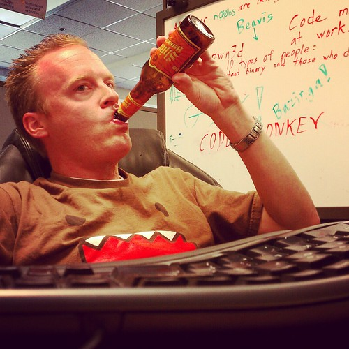 I don't always drink beer at the office, but when I do, I prefer Shiner.  Stay thirsty my geeks. | by slworking2