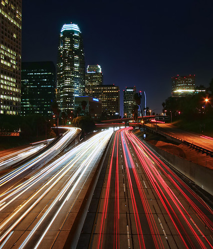 california longexposure travel light vacation usa building nature architecture night skyscraper photoshop canon landscape flow photo losangeles interesting traffic cs2 streak picture photographers wideangle clear explore socal adobe freeway highrise april southerncalifornia 4thstreet bunkerhill afterdark 2010 adjust infocus i110 interstate110 denoise 40d topazlabs photographersnaturecom davetoussaint mygearandme dblringexcellence flickrstruereflection1