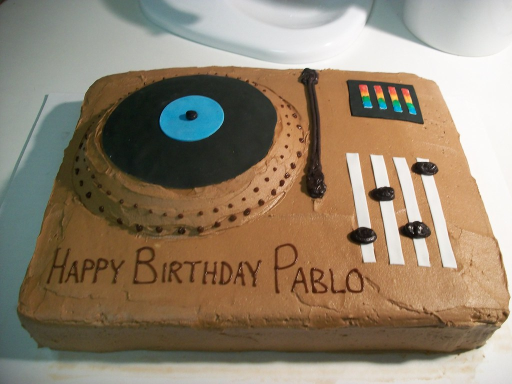 Incredible Turntable Birthday Cake Created For A Djs Birthday Flickr Birthday Cards Printable Benkemecafe Filternl