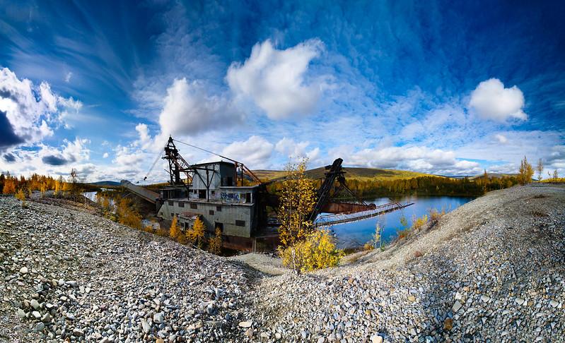 Gold dredge, Chatanika, AK