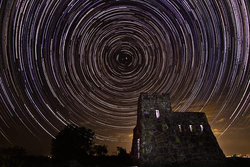 light castle night canon dark painting stars star long exposure north trails astrophotography 7d kansas shooting astrology startrails polaris coronadoheights lindsborgks