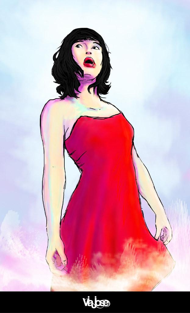 La Chica De Vestido Rojo Jose Maldonado Flickr