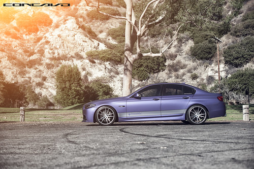 BMW F10 Matte Purple on CW-S5 Done by DBX | by Concavo Wheels