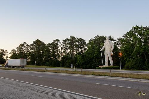 sunset sculpture texas unitedstates huntsville momument davidadickes i45 atributetocourage giantsamhoustonstatue