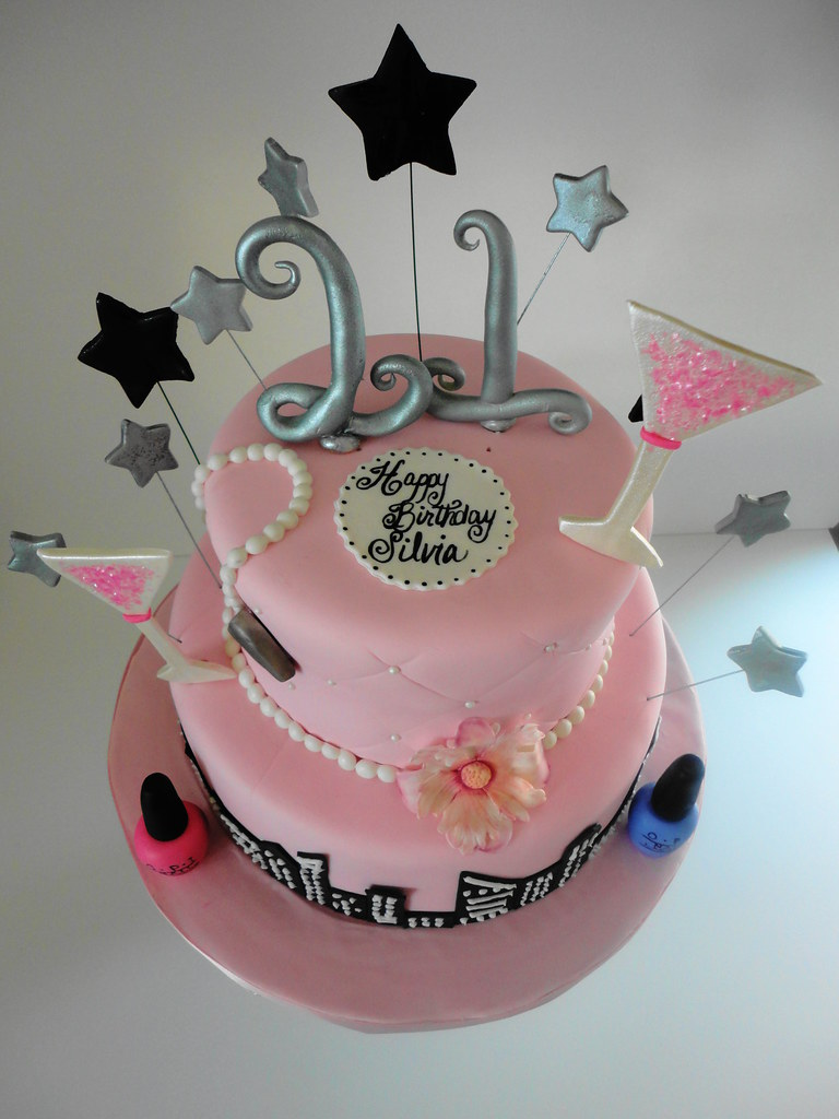 Awesome Happy 21St Birthday Cake Cakes By Marlene Flickr Funny Birthday Cards Online Alyptdamsfinfo