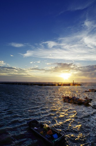 blue sunset sea sky nature port boat pentax k5 da14mmf28 spectacularsunsetsandsunrises