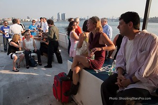 Folks taking in the view and the ocean breeze | by Greenpoint Film Festival