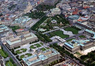 Vienna - Ring and Hofburg from Air (Postcard)