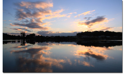 winter water clouds sunrise canon reflections pretty peaceful australia queensland ripples 2012 oxenford uppercoomera