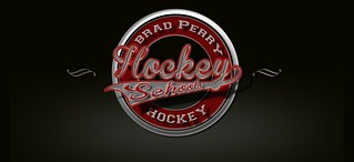 A vintage logo of Brad Perry Hockey Schools | by Brad Perry