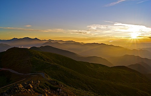 alps japan sunrise dawn day north clear norikura