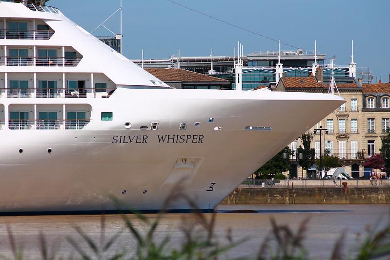 Arrivée du Silver Whisper entre Lamarque et Bordeaux - 08 aout 2012