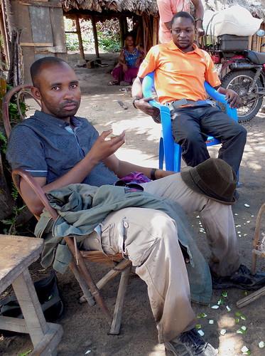 Matthieu in Bweni, eating orange | by teresehart
