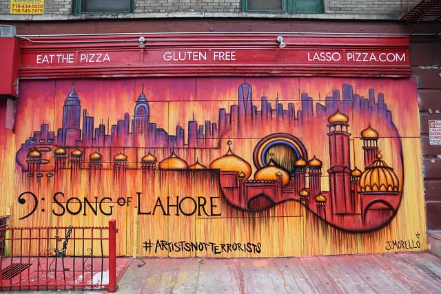 Song of Lahore ArtistsNotTerrorists Street Art 192 Mott St, Manhattan, New York
