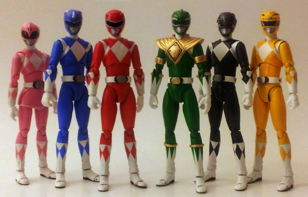 S H Figuarts custom Zyuranger group photo | Group shot of th