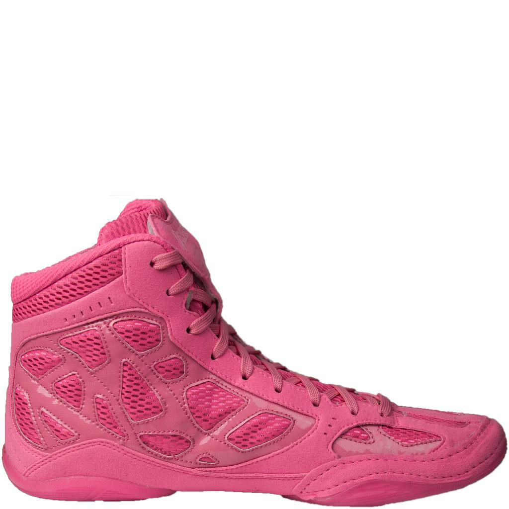 asics wrestling shoes pink