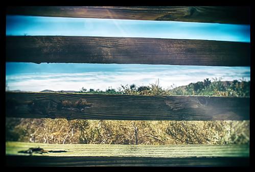 california wood light sky usa sun sunlight nature clouds vintage fence landscape nikon desert post stripes grain brush lightleak coachellavalley slats d200 sunrays hdr deserthotsprings sunflare hbmike2000 compcorner coachellavalleynaturepreserves