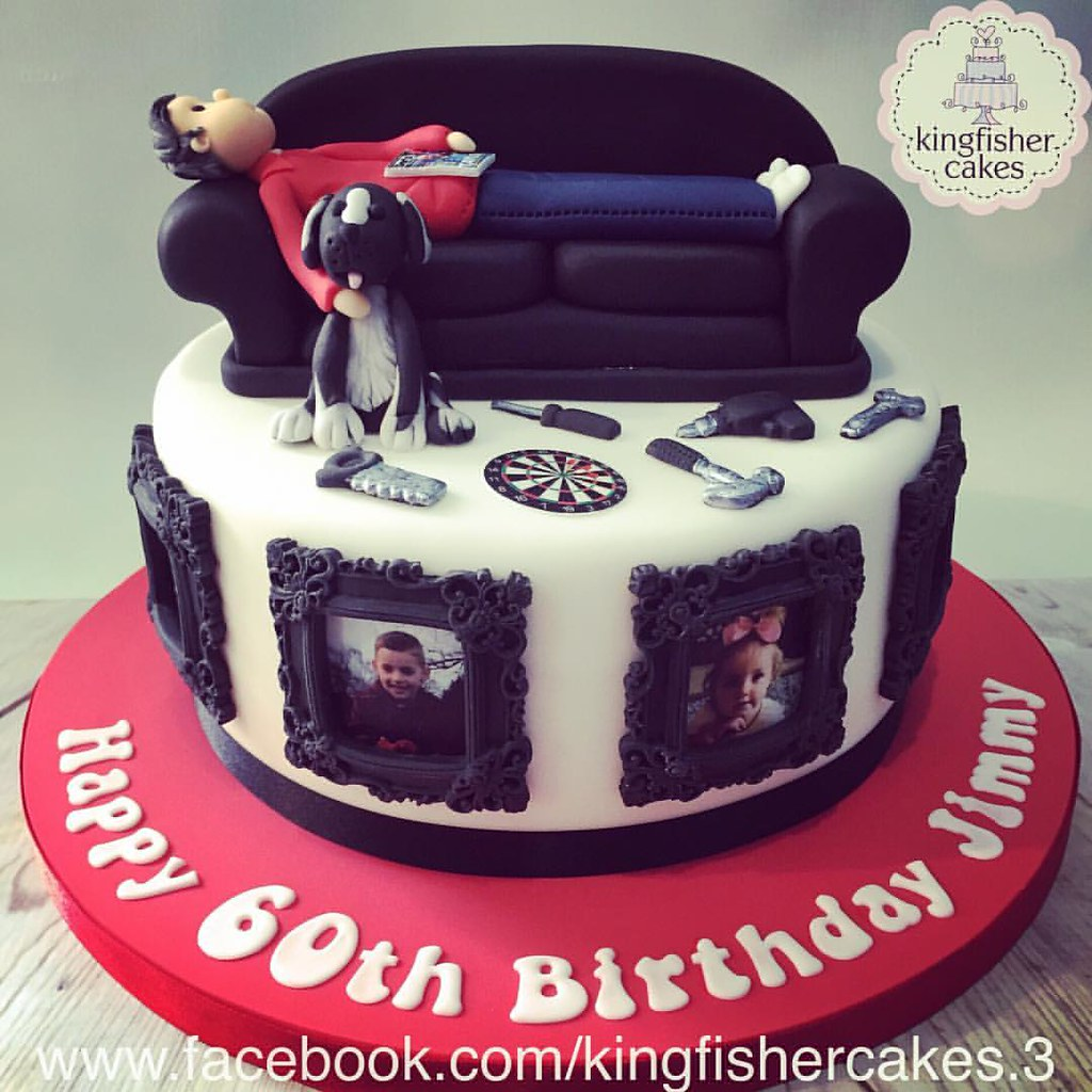 Terrific Another Of The Weekends Cakes A Mans 60Th Birthday Cake Flickr Funny Birthday Cards Online Hendilapandamsfinfo