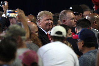 Donald Trump with supporters | by Gage Skidmore