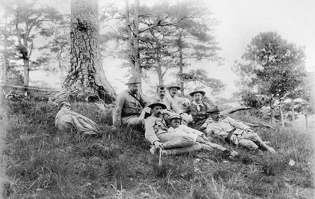 Group under the pine trees, Baguio, Benguet, Philippines, c1900 (2)