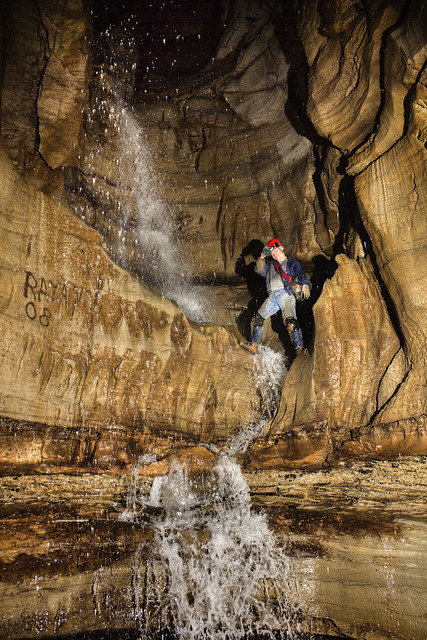 Lost Creek Cave waterfall, Robert Craven, White County, Tennessee
