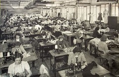 Early photo of Timer Sewing Section