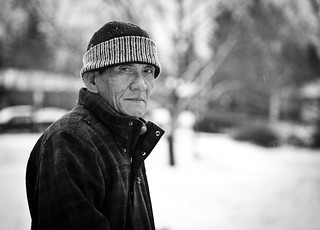 Father-in-law in the snow; Calgary | by Dillan K
