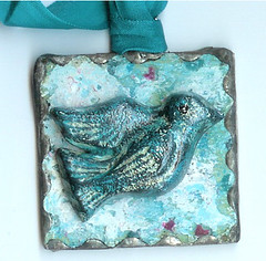 fly away soldered bird tag charm