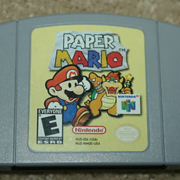 Paper Mario for N64 Original Cartridge! I loved this game